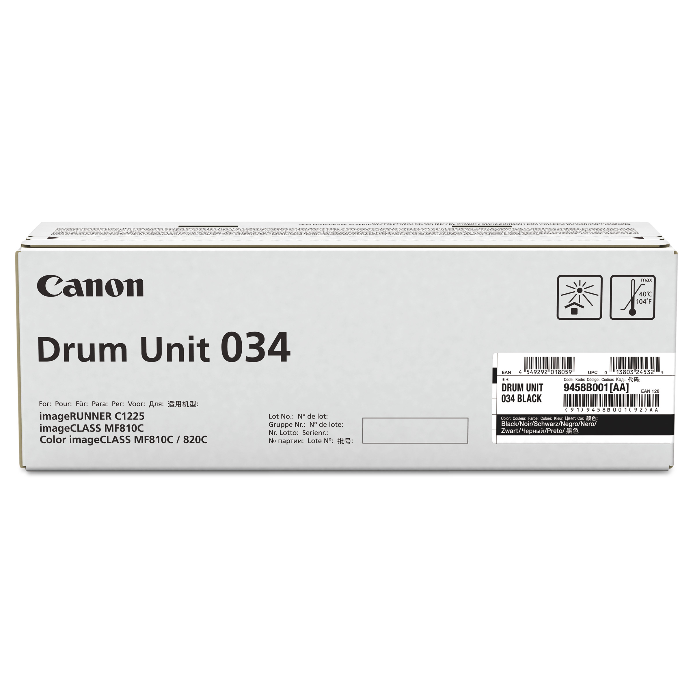 Фотобарабан Canon Drum Unit C-EXV034 для iRC1225, Black (9458B001)