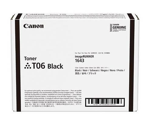 Картридж Canon T06, iR1643/164 3i/1643iF Cartridge Black (3526C002)