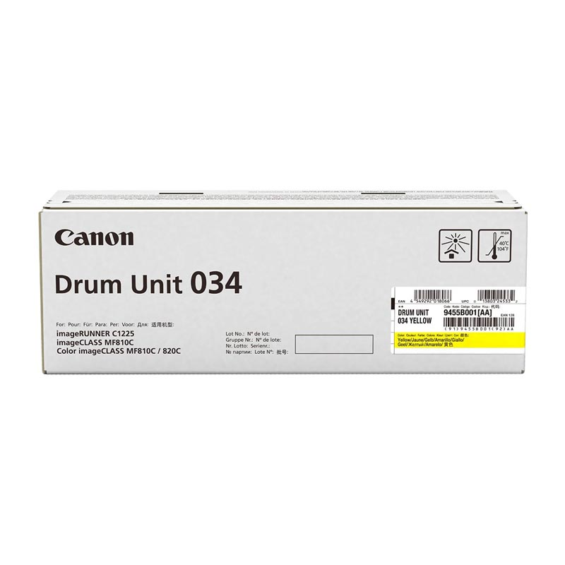 Фотобарабан Canon Drum Unit C-EXV034 для iRC1225, Yellow (9455B001)